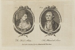 'The Frail Alicia and the Whimsical Lover' (Sampson Eardley, 1st Baron Eardley), published by Archibald Hamilton Jr - NPG D14728