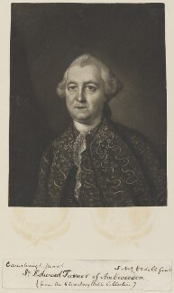 Sir Edward Turner, 2nd Bt, by James Macardell, after  Thomas Gainsborough - NPG D14729