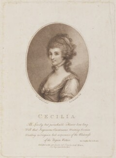 'Cecilia', by Francesco Bartolozzi, published by  Anthony Molteno, after  Thomas Engleheart - NPG D14734