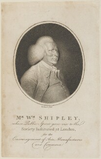William Shipley, by William Hincks - NPG D14738