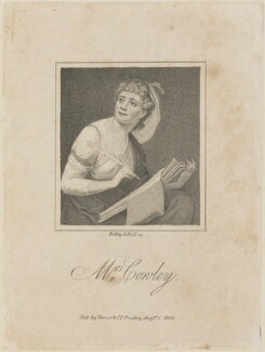 Hannah Cowley (née Parkhouse), by Ridley & Holl, published by  Vernor & Co - NPG D14743