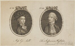'Miss Gr-hill and The Suspicious Husband' (Miss Greenhill; Edmund Boyle, 7th Earl of Cork and Orrery), by Unknown artist - NPG D14748