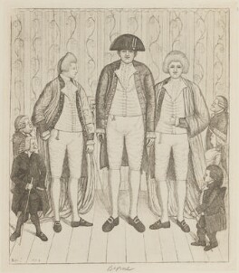 William Richardson; Andrew Bell; Mr Knipe; Lord Monboddo; Charles Byrne; Mr Knipe; Baillie Kyd, by John Kay - NPG D14755