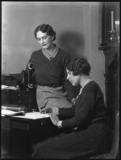Hon. Eleanor Theodora Roby Benson; Hon. Betty Ellen Askwith, by Bassano Ltd - NPG x37144