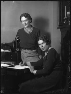 Hon. Eleanor Theodora Roby Benson; Hon. Betty Ellen Askwith, by Bassano Ltd - NPG x37143
