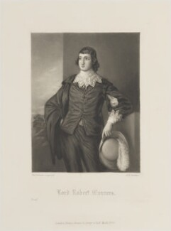 Lord Robert Manners, by Arthur N. Sanders, published by  Henry Graves & Co, after  Thomas Gainsborough - NPG D14767