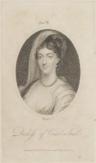 Anne (née Luttrell), Duchess of Cumberland and Strathearn, by Mackenzie, published by  Vernor, Hood & Sharpe - NPG D14769