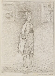 Frances Abington (née Barton) ('Scrub'), by James Sayers, published by  Thomas Cornell - NPG D14774