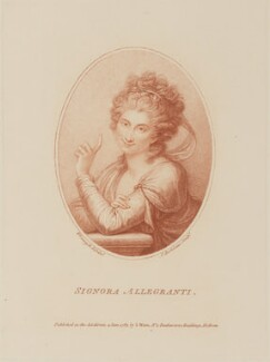 Maddalena Allegranti, by Francesco Bartolozzi, published by  S. Watts, after  Richard Cosway - NPG D14777