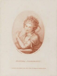Maddalena Allegranti, by Francesco Bartolozzi, published by  S. Watts, after  Richard Cosway - NPG D14778