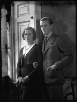 Patricia Kenneth Child-Villiers (née Richards), Countess of Jersey (later Filmer-Wilson, later Laycock); George Francis Child-Villiers, 9th Earl of Jersey, by Bassano Ltd, 19 October 1931 - NPG x34480 - © National Portrait Gallery, London