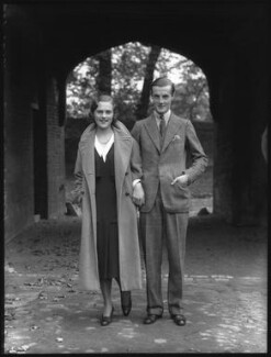 Patricia Kenneth Child-Villiers (née Richards), Countess of Jersey (later Filmer-Wilson, later Laycock); George Francis Child-Villiers, 9th Earl of Jersey, by Bassano Ltd, 19 October 1931 - NPG x34482 - © National Portrait Gallery, London