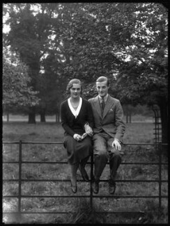 Patricia Kenneth Child-Villiers (née Richards), Countess of Jersey (later Filmer-Wilson, later Laycock); George Francis Child-Villiers, 9th Earl of Jersey, by Bassano Ltd, 19 October 1931 - NPG x34483 - © National Portrait Gallery, London