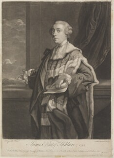 James Fitzgerald, 1st Duke of Leinster when Earl of Kildare, by James Macardell, published by  Michael Ford, after  Sir Joshua Reynolds - NPG D14788