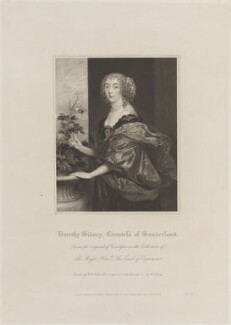 Dorothy Spencer (née Sidney), Countess of Sunderland, by William Thomas Fry, published by  Lackington, Allen & Co, and published by  Longman, Hurst, Rees, Orme & Brown, after  Robert William Satchwell, after  Sir Anthony van Dyck - NPG D14801