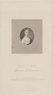 Mary Port (née d'Ewes), by Joseph Brown, published by  Richard Bentley, after  Fincke - NPG D14803