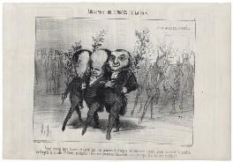 Emile de Girardin; Victor Hugo; Athanase Laurent Charles Coquerel, by Honoré Daumier - NPG D18089