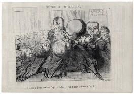 Troisième et dernière séance du Congrès de la Paix - Tout le monde s'embrasse et c'est fini!, by Honoré Daumier - NPG D18090