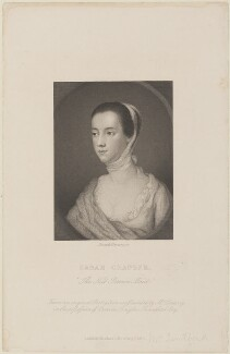 probably Sarah Sandford (née Chapone), by Joseph Brown, published by  Richard Bentley, after  Mary Delany (née Granville) - NPG D14807