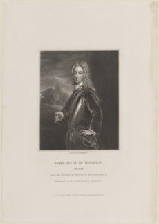 John Montagu, 2nd Duke of Montagu, by William Finden, published by  Harding & Lepard, after  Sir Godfrey Kneller, Bt - NPG D14812