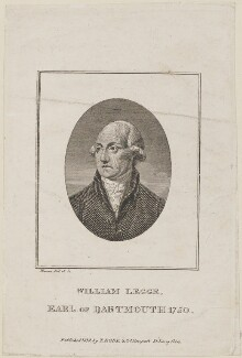 William Legge, 2nd Earl of Dartmouth, by Charles Warren, published by  Thomas Rodd the Elder - NPG D14817