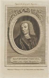 Edward Young, published by Thomas Vallance, and published by  Alexander Hogg - NPG D14821