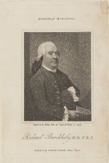 Richard Brocklesby, by William Ridley, published by  John Sewell, after  John Singleton Copley - NPG D14832
