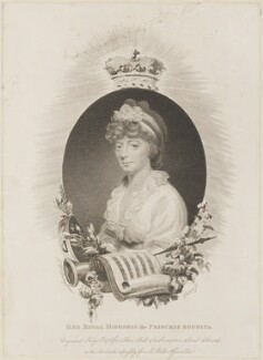 Princess Augusta Sophia, by Edward Scriven, published by  John Bell, after  Sir William Beechey - NPG D14842