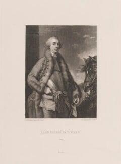 George Sackville Germain, 1st Viscount Sackville, by Samuel William Reynolds, published by  Henry Graves & Co, after  Sir Joshua Reynolds, published circa 1820 (1759) - NPG D14851 - © National Portrait Gallery, London