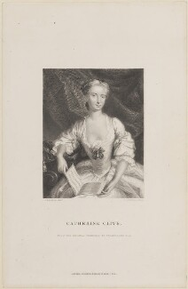 Catherine ('Kitty') Clive (née Raftor), by William Greatbach, published by  Richard Bentley, after  Jeremiah Davison - NPG D14852