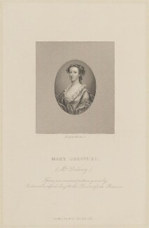 Mary Delany (née Granville), by Joseph Brown, published by  Richard Bentley - NPG D14857