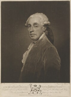 James Brudenell, 5th Earl of Cardigan, by and published by Joseph Grozer, after  George Romney - NPG D14859