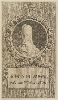 Princess Augusta Sophia, by Unknown artist - NPG D14869