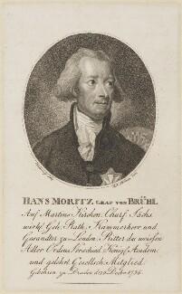 Hans Moritz von Brühl, by Konrad Westermayr, probably after  James Northcote - NPG D14874