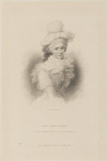Marian Hastings (née Anna Maria Apollonia Chapuset), by William Greatbach, published by  Richard Bentley, after  Ozias Humphry - NPG D14885