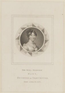 Maria (née Walpole), Duchess of Gloucester and Edinburgh, by Samuel Freeman, published by  Edward Orme, after  William Marshall Craig - NPG D14890