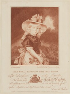 Princess Sophia, by and published by Caroline Watson, after  John Hoppner - NPG D14891