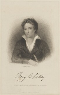 Percy Bysshe Shelley, by William Finden, published by  Black & Armstrong, after  Amelia Curran - NPG D14892
