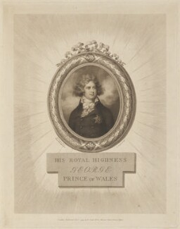 King George IV, by Jean Condé, published by  Pierre Condé, after  Richard Cosway - NPG D14900