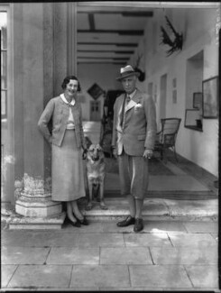 Anne Sackville-West (née Meredith), Lady Sackville; Charles Sackville-West, 4th Baron Sackville, by Bassano Ltd - NPG x34423