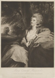 Mary Harcourt (née Danby), Countess of Harcourt, by and published by Samuel William Reynolds, after  Sir Joshua Reynolds - NPG D14913
