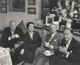 Alfred Lunt; Lynn Fontanne; Cecil Beaton; Noël Coward, by Paul Tanqueray - NPG x40493
