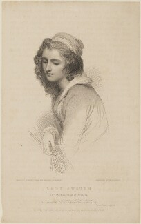 Sarah (née Richardson), Lady Austen ('Lady Austen in the character of Lavinia'), by John Henry Robinson, published by  Baldwin & Cradock, after  William Harvey, after  George Romney - NPG D14915