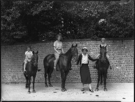 Christine Clark (née Asquith); (April) Mary Rous (née Asquith), Countess of Stradbroke; Hon. Betty Constance Asquith (née Manners); Jean Constance Toynbee (née Asquith), by Bassano Ltd - NPG x34678