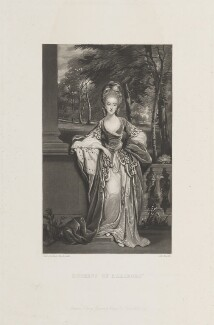 Lady Caroline Spencer (née Russell), Duchess of Marlborough, by James Scott, published by  Henry Graves & Co, after  Sir Joshua Reynolds - NPG D14921