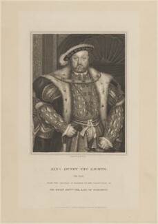 King Henry VIII, by William Thomas Fry, published by  Harding & Lepard, after  Hans Holbein the Younger - NPG D14929