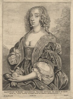 Mary Villiers, Duchess of Richmond and Lennox, by Wenceslaus Hollar, after  Sir Anthony van Dyck, mid 17th century - NPG D17938 - © National Portrait Gallery, London