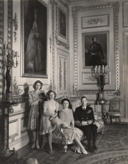 Queen Elizabeth II; Princess Margaret; King George VI; Queen Elizabeth, the Queen Mother, by Cecil Beaton - NPG x22565