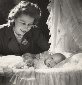 Queen Elizabeth II; Prince Charles, by Cecil Beaton - NPG x29597
