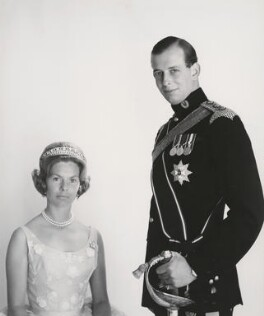 Katharine Lucy Mary Worsley, Duchess of Kent; Prince Edward George Nicholas Paul Patrick, Duke of Kent, by Cecil Beaton, September 1962 - NPG x35195 - © V&A Images